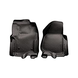 Husky Liners 2012 Ford F250/F350 SD Super Cab Classic Style Black Floor Liner (w/Manual Trans. Case) (33861)