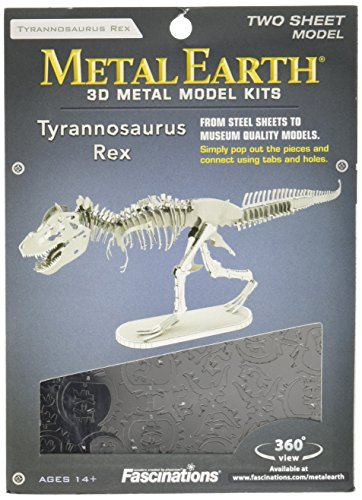 Fascinations Metal Earth Tyrannosaurus Rex Skeleton 3D Metal Model Kit (Tyrannosaurus Model)