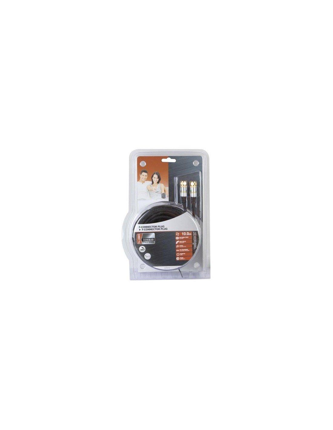 Velleman conector PAC702T100 - Cable conector Velleman F a conector F, multicolor, 10 m 5c4419