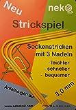 NEUHEIT!!! Neko Strickspiel, Stärke 3,0mm, Farbe gelb - Sockenstricken mit 3 Nadeln