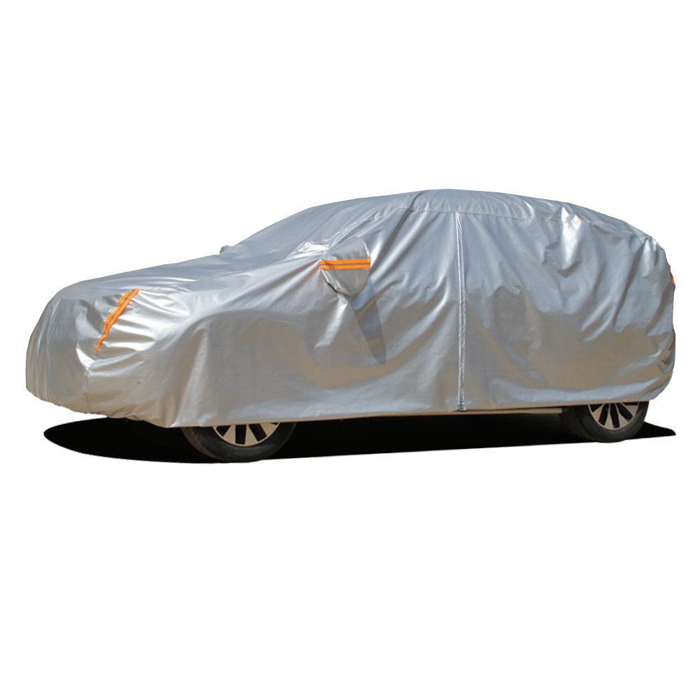 "Kayme Multi-Layer SUV Cover Waterproof All Weather for Automobiles, Outdoor Full Cover Rain Sun UV Protection with Zipper Cotton, Universal Fit for SUV (182""-190"")"