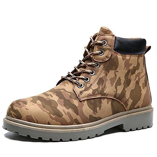 Sole Khaki Hiking BERTERI and Rubber Anti Shoes Waterproof Slip vqqcz4wf