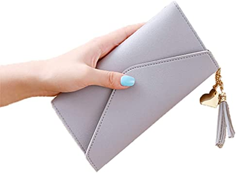 Womens Handbag PU Leather Long Cash Coin Purse Wallet Holder Clutch Phone Bag