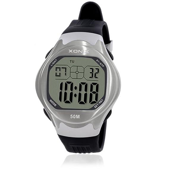 HombresS reloj impermeable natación led estudiantes adolescentes reloj electrónico-E