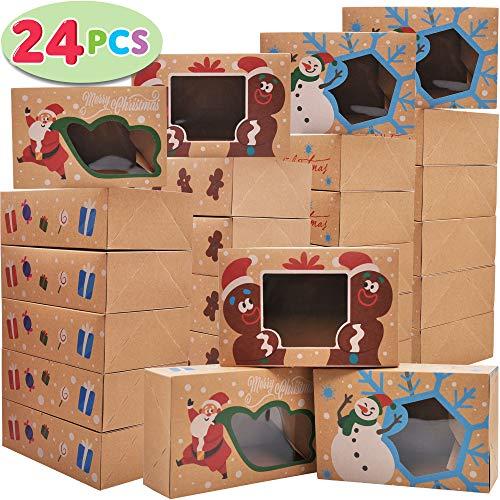 24 PCs Christmas Cookie Gift Baking Box 8.75