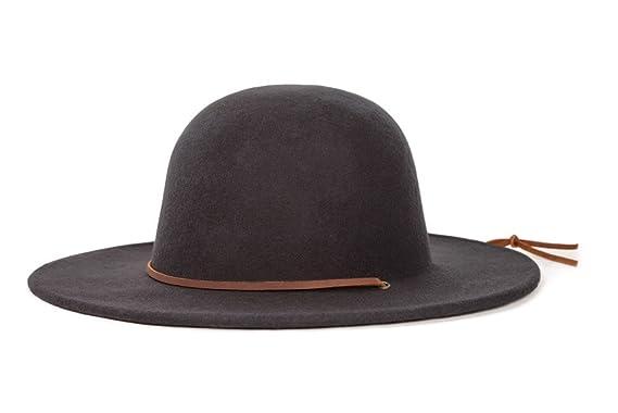 06a3ccfd64c12 ... shop brixton mens tiller wide brim felt fedora hat black x small b1c09  9d4a8