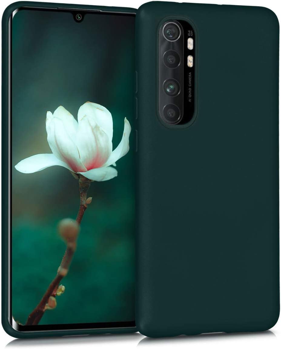 kwmobile Funda Compatible con Xiaomi Mi Note 10 Lite - Carcasa móvil de Silicona - Protector Trasero en petróleo Metalizado