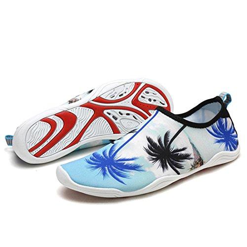 Wassersport Yoga weiß für Strandschuhe Herren Badeschuhe APTRO Aquaschuhe Unisex Palme xS041OFq