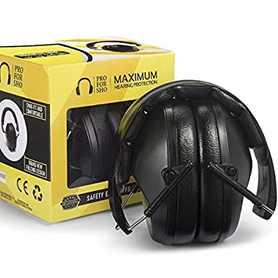 Pro For Sho 34dB Shooting Ear Protection - Special Designed Ear Muffs Lighter Weight - Maximum Hearing Protection