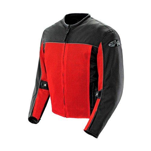 Joe Rocket Velocity Mens Black/Red Mesh Motorcycle Jacket - X-Large (Joe Rocket Motorcycle Jacket Red)