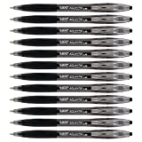 BIC Atlantis Retractable Ball Point Pen, 1.6mm, Bold Point, Black Ink (12-Count)