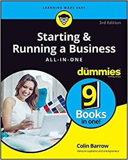 starting and running a business all in one for dummies for starting and running a business all in one for dummies for dummies business personal finance colin barrow 9781119152156 com books