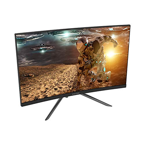 Viotek GN24CB 24-Inch Curved Gaming Monitor with Speakers, 1080P 144Hz Bezel-Less Samsung VA Panel, 2 x HDMI DP FreeSync - VESA (Black) (Best Value Gaming Monitor 2019)