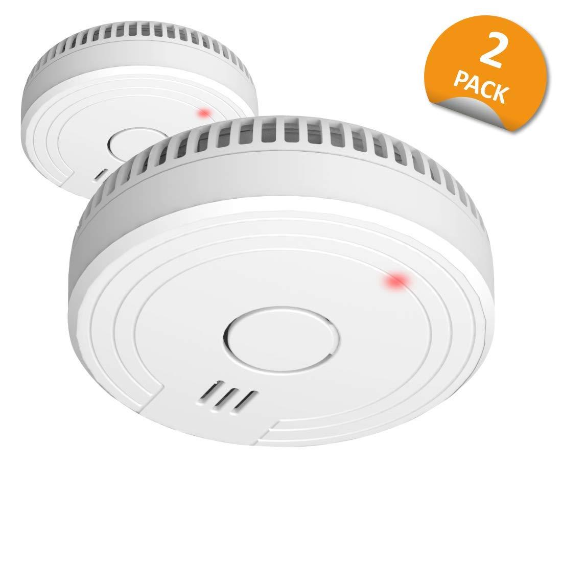 Carbon Monoxide Detector White Set of 2 Piece