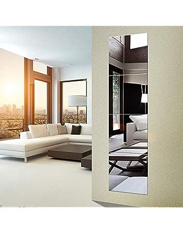 abefe77fe77f EDGEWOOD Parkwood Wall Mirrors Flexible Real Glass Flat Frameless 4-Piece  Set