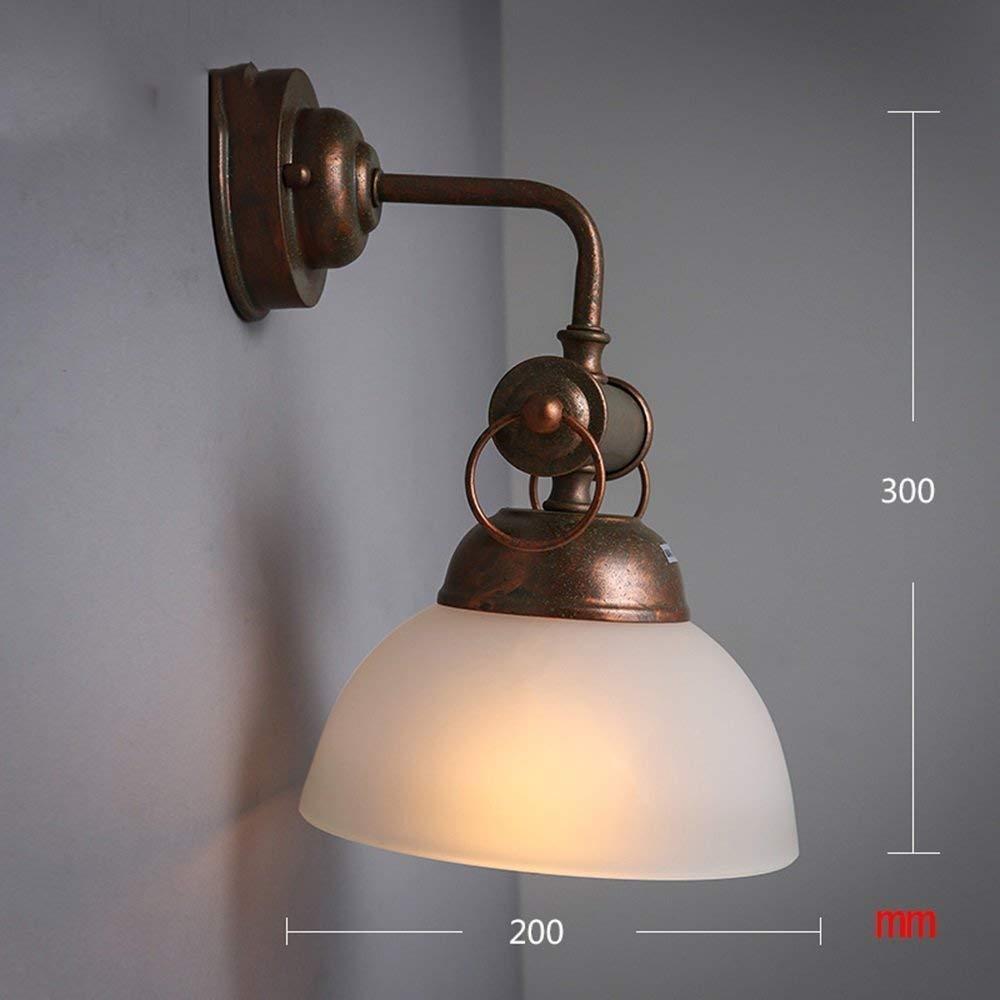 FuweiEncore Lámpara de Cristal de Cristal Lámpara de Pared de Vidrio Iluminación Bar Paseo (Color Blanco) (Color : Blanco)