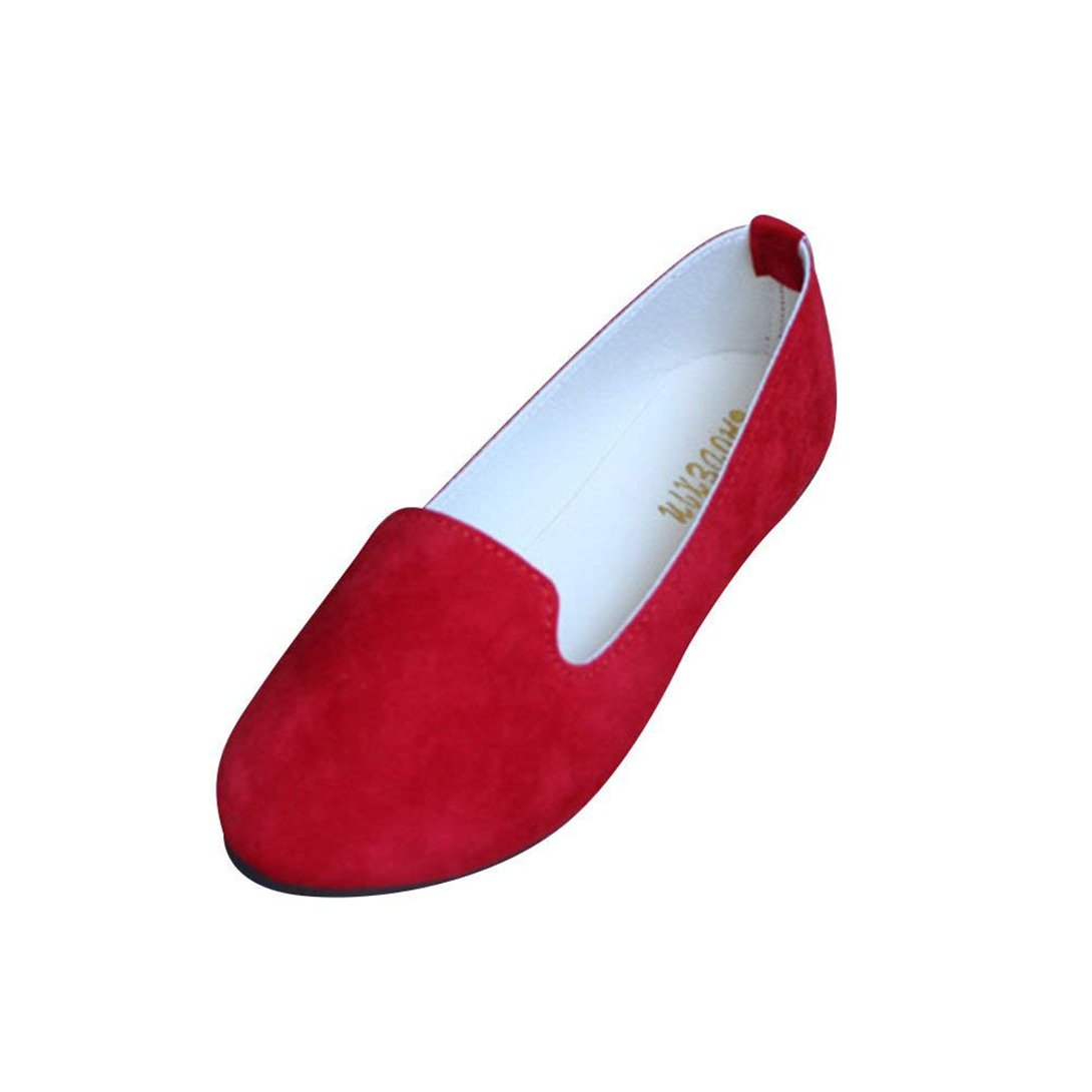 Femme Mary Ballerines Plates Janes Pointue Depolie Confortable Casual Confortable y Elegante Mode Simple Mary Janes Rouge bd4c72a - reprogrammed.space