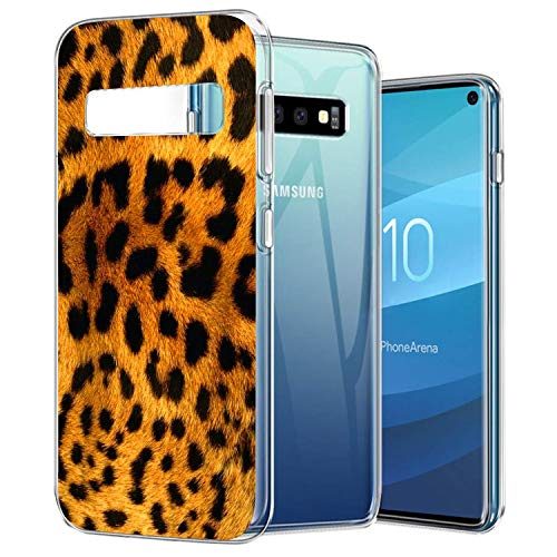 Cell Phone Case Compatible with Samsung Galaxy S10 Leopard Print Soft Case TPU Ultra Slim Side Scratch Resistance Cover