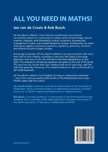 All You Need in Maths!: Amazon.co.uk: Jan van de Craats, Rob Bosch ...