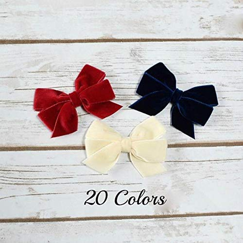61566e7cf2962 Amazon.com: Hair Bows, Velvet Hair Bow, Baby Bows, Bows for Girls ...