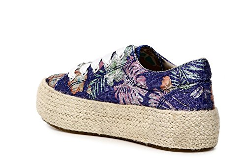 Platform DH904 Woman Laces Noir 548 multichip Rope CAF Multiblu Sneakers Shoes CAFèNOIR EgX8w