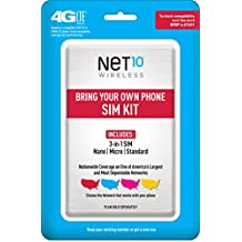 Net10 Bring Your Own Phone SIM Activation Kit (Triple Punch)