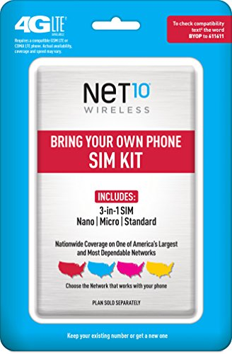 Net10 Bring Your Own Phone Sim Activation Kit  Triple Punch