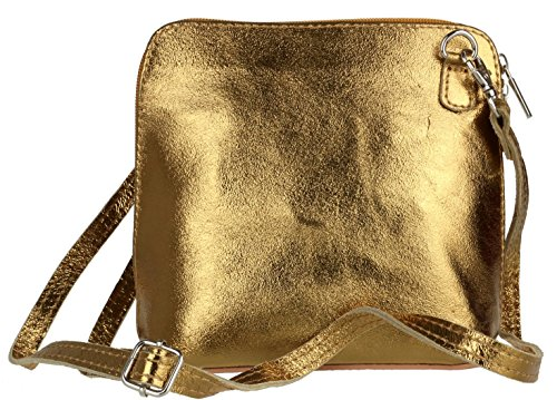 Metallic Bolso Piel Old mujer para Gold Girly de Handbags cruzados 10q5w0xIS