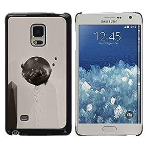 Caucho caso de Shell duro de la cubierta de accesorios de protección BY RAYDREAMMM - Samsung Galaxy Mega 5.8 - Resumen Ronda