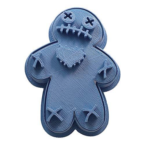 Cuticuter Halloween Voodoo Doll Cookie Cutter, blue