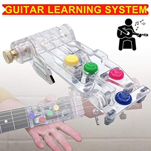 Guitar Chordbuddy Learning System Device Just Press the Buttons & Play Guitar Learning System Teaching Practice Aid Chord Buddy Lesson Tool (1PC)