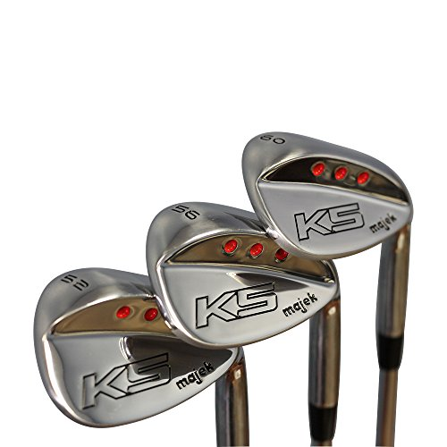 (Majek Golf +1 inch Over Big & Tall Men's Complete Wedge Set: 52° Gap Wedge (GW), 56° Sand Wedge (SW), 60° Lob Wedge (LW) Right Hand Regular Flex (Tall 6'0