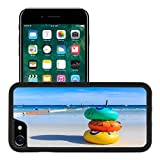 MSD Premium Apple iPhone 7 Aluminum Backplate Bumper Snap Case iPhone7 Colorful Swim Ring Floating on a Beach IMAGE 26955230