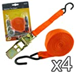 Pack of 4 - New 15 FT Ratchet Tie Dow...