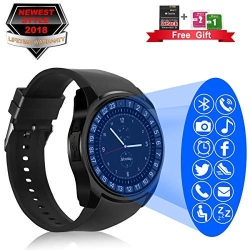 Bluetooth Smart Watch with Camera Touchscreen,Waterproof Smartwatch Unlocked Phone Watchs with SIM Card Slot, Smart Wrist Watch Compatible with ...