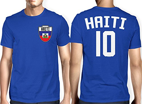 Mens Haiti Haitian Football T shirt