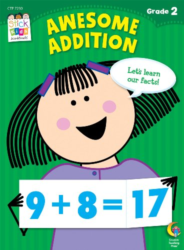 Awesome Addition Stick Kids Workbook, Grade 2 (Stick Kids Workbooks)