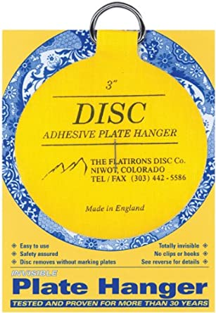 Flatiron Disc Invisible Plate Hanger 3-Inch  sc 1 st  Amazon.in & Flatiron Disc Invisible Plate Hanger 3-Inch: Amazon.in: Amazon.in