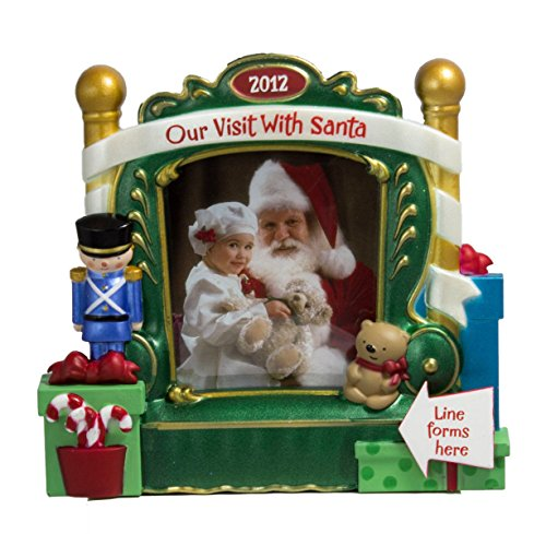 Our Visit With Santa Photo Holder 2012 Hallmark Christmas Ornament