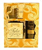 French Market – Tyler Gift Set – Room Spray (Chambre Parfum), Votive Candle, Glass Votive Holder, 11 oz Candle