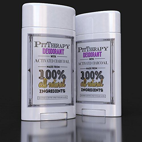 PitTherapy all Natural deodorant w/Activated Charcoal. NO Aluminum, Paraben or Phthalates