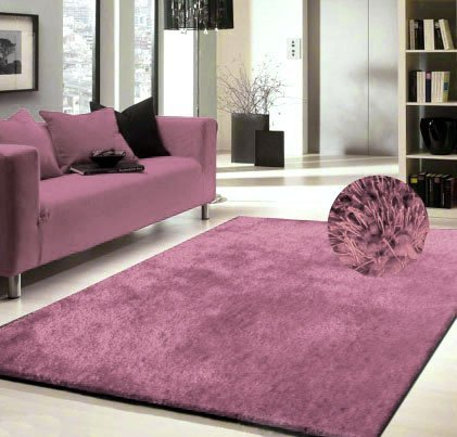 Amazon.com: Lavender Shag Rug Made In Tibet Size 5\' x 8\' HAND TUFTED ...
