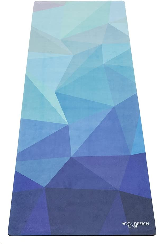 YOGA DESIGN LAB The Combo Yoga MAT 2-in-1 Mat Towel Eco Luxury Ideal for Hot Yoga, Power, Bikram, Ashtanga, Sweat Studio Quality Includes Carrying Strap