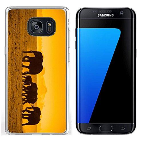 - Luxlady Samsung Galaxy S7 Edge Clear case Soft TPU Rubber Silicone IMAGE ID 5380911 silhouettes of elephants amboseli national park kenya