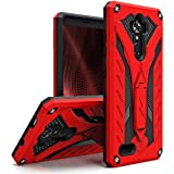 ZTE Max XL / Blade X Max Case, Zizo [Static Series] Shockproof [Military Grade Drop Tested] w/ Kickstand [Heavy Duty] Impact Resistant / Blade Max 3, Red/Black