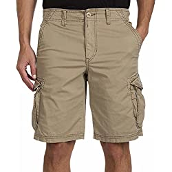 Unionbay Montego Cargo Shorts for Men Assorted Colors and Sizes - Comfort Stretch (38, Tan)