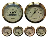 Dolphin Gauges-6 Gauge Mechanical Set - Gold