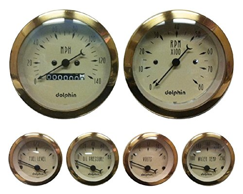 Dolphin Gauges-6 Gauge Mechanical Set - - Dolphins 6
