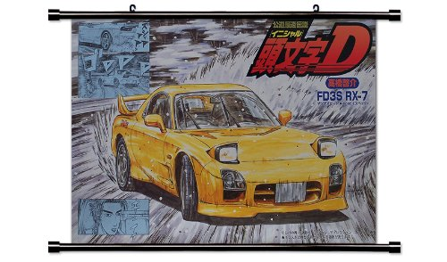Initial D Anime Fabric Wall Scroll Poster (32 x 20) Inches.[WP]-Init-2 (L) (Initial Wall Scroll D)