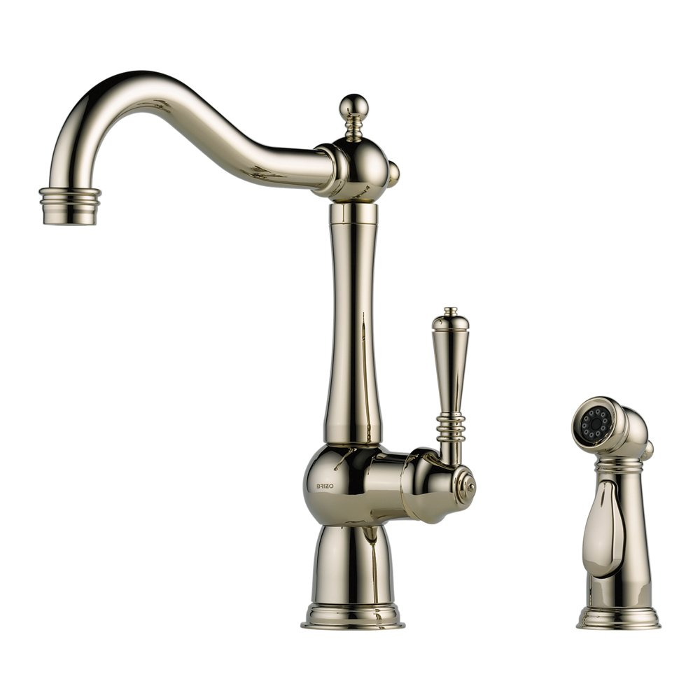 Brizo 61136LF-PN Tresa Kitchen Faucet Single Handle with Side ...